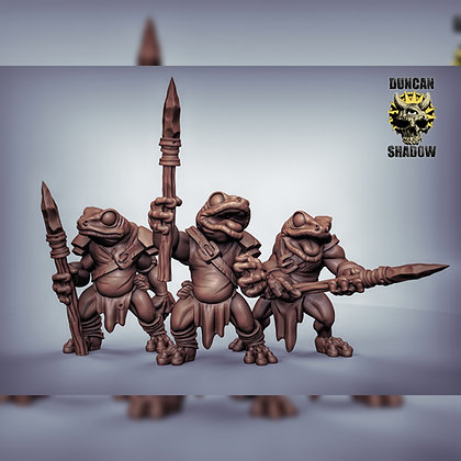 Boggards with spears
