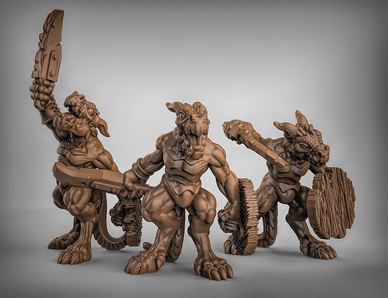 Kobolds with swords and shields