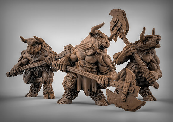 Minotaur's with Double handed axes