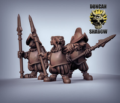 Badgers with Spears (pre supported)