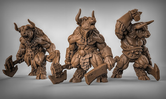 Minotaur's with hand weapons