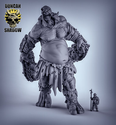 Behemoth Titan pose 2 with flails