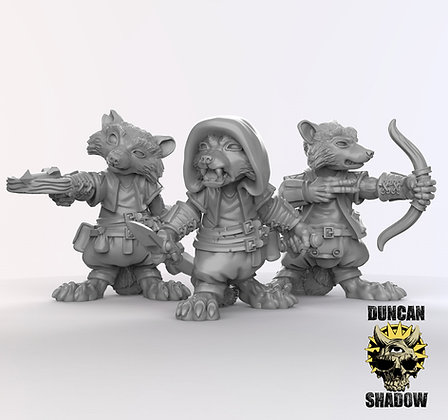 Racoon Folk Rogue (pre supported)