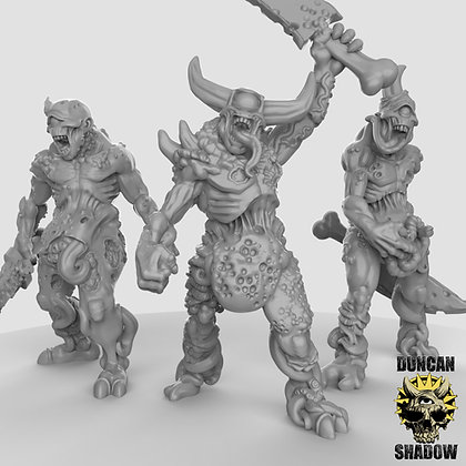 Plague Demons with swords (pre supported)