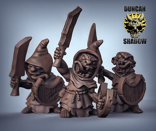 Goblins with Sword and Shields (pre supported)