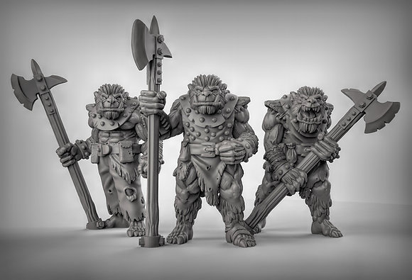 Bugbears with halberds