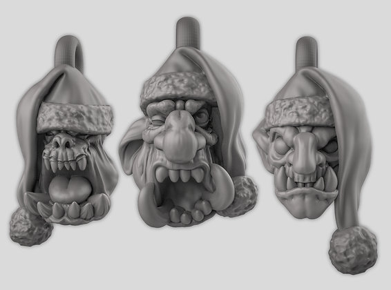 Christmas heads