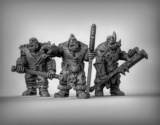 Ogres with double handed weapons