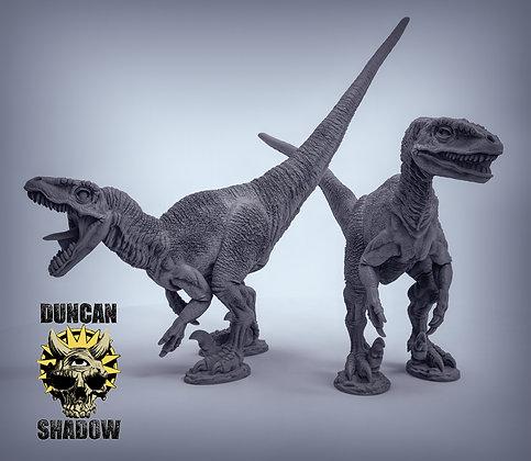 Velociraptor no feathers (pre supported)
