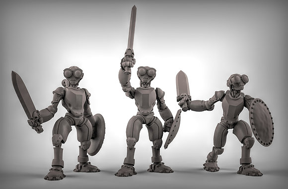 Warforged with Swords and Shields