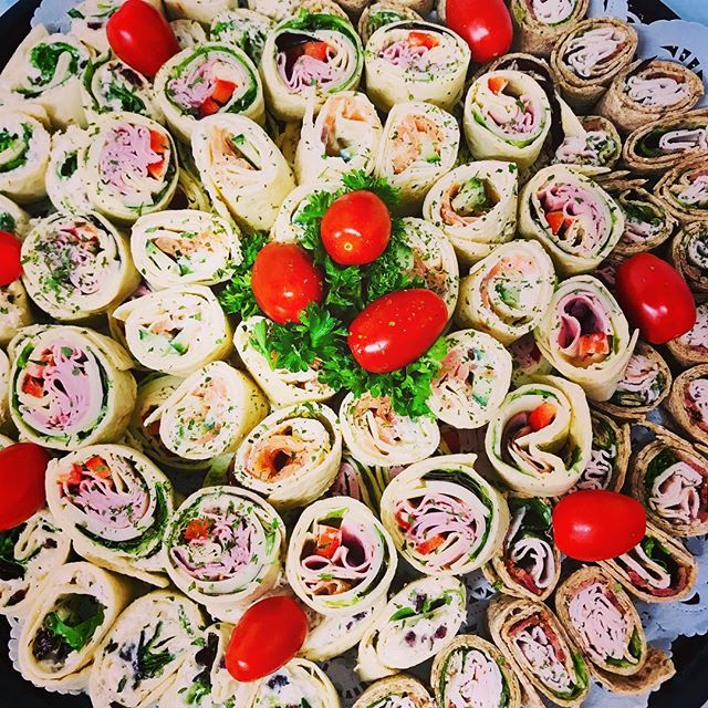 Bouchées de wrap 4 saveurs! #buffet #tra