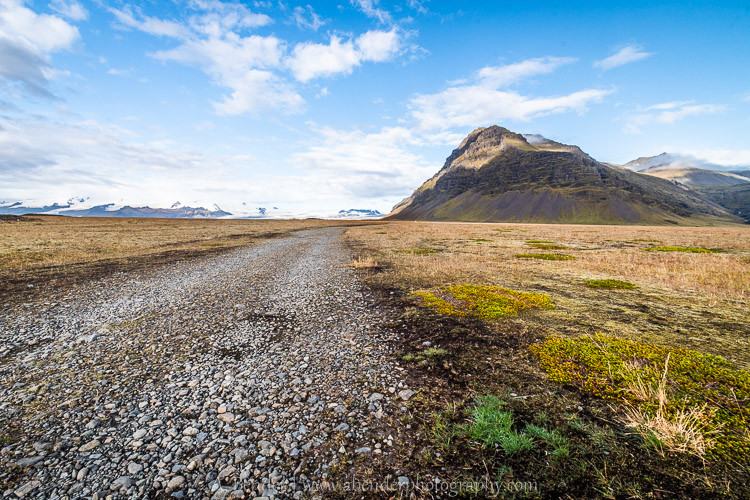 Random gravel road in Iceland