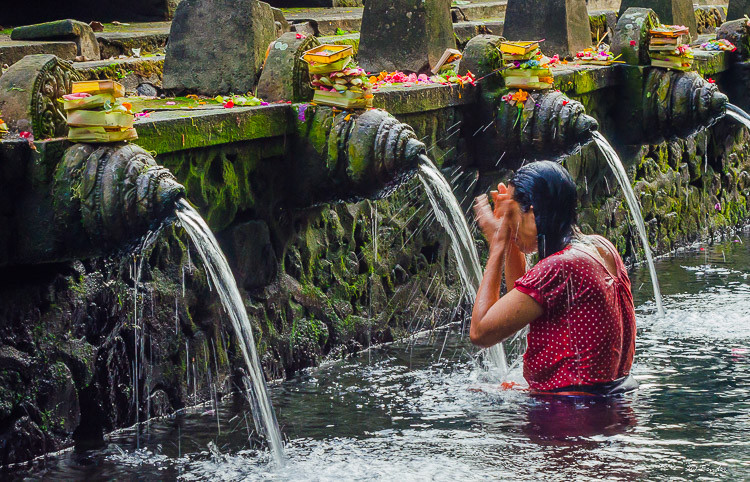 """Morning Abulotions"" Pura Tirta Empul, Bali"