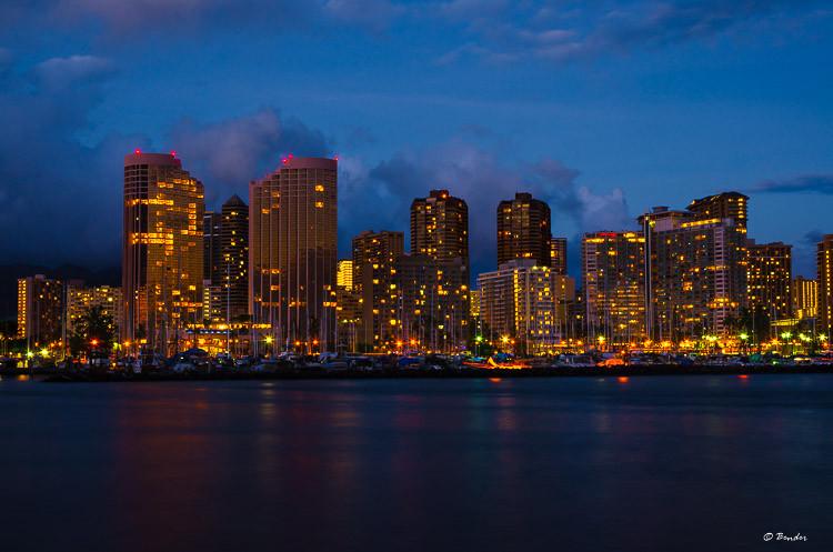 Waikiki Blue Hour Skyline