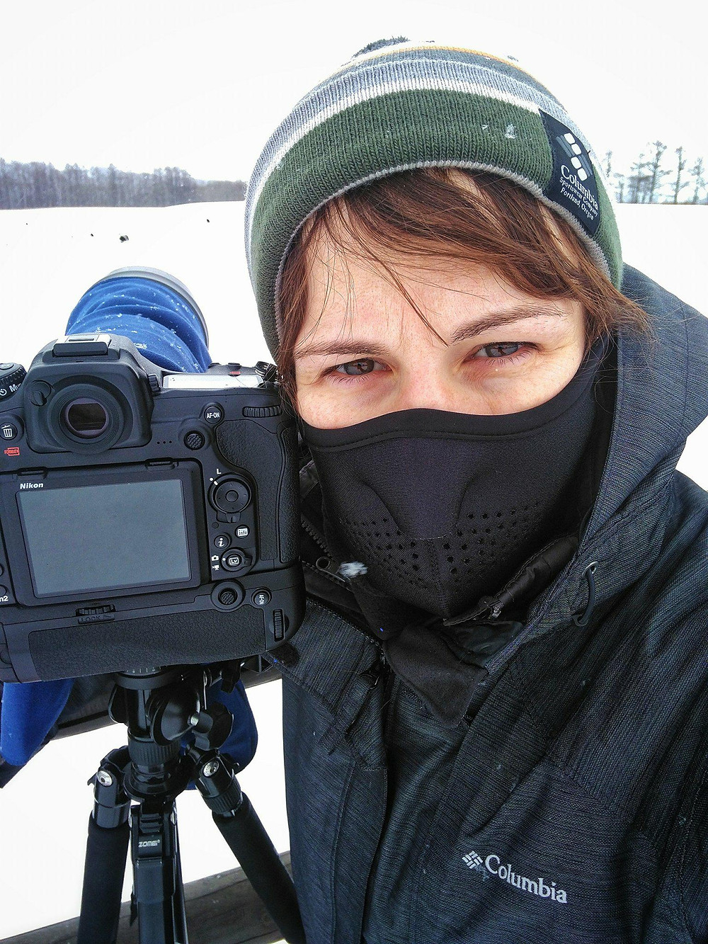 Me with my camera gear at the crane fields