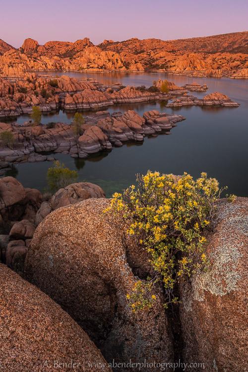 Fading Glow, Watson Lake, Arizona