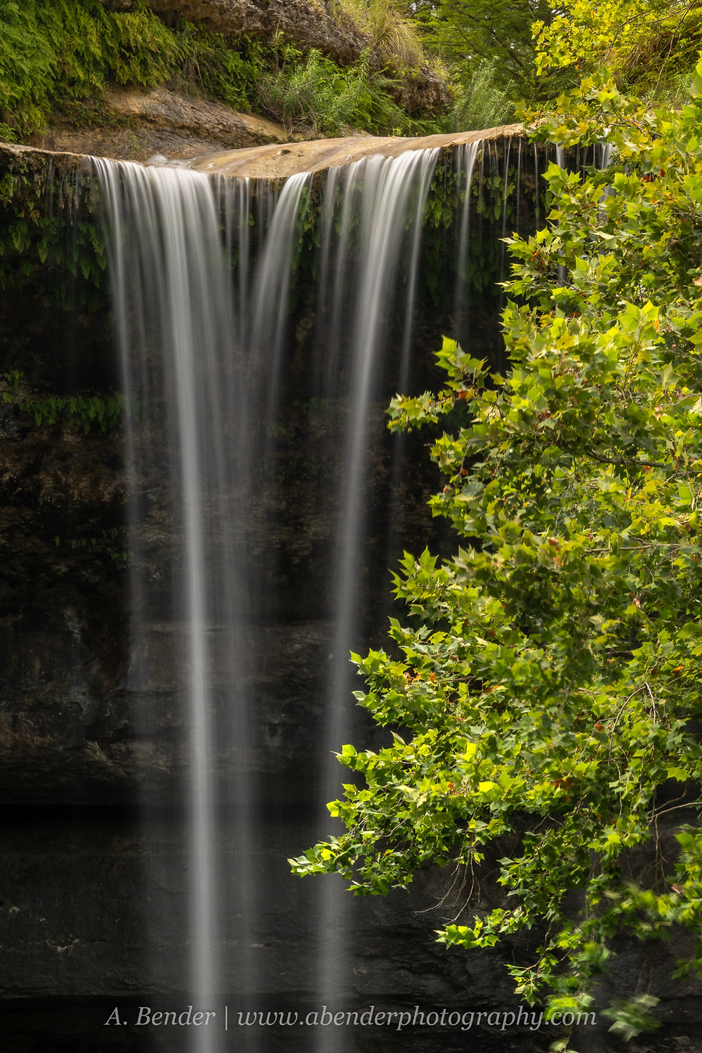 Hamilton Pools Waterfall Texas Hill country   A Bender Photography LLC