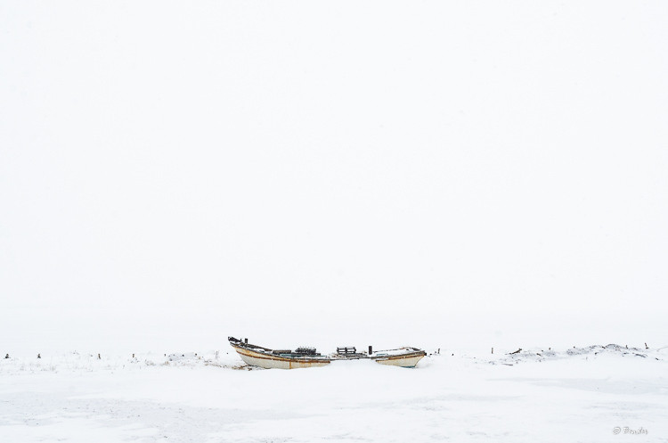 """""""Encased in Ice II"""" Study of a Japanese fishing boat in the dead of winter"""