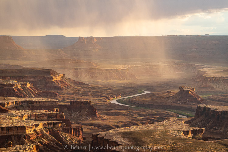 Green River Overlook with Storms at Sunset