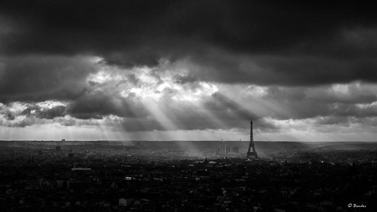 Sunbeams over Paris