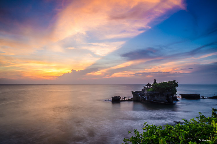 """Sunset Over Tanah Lot """