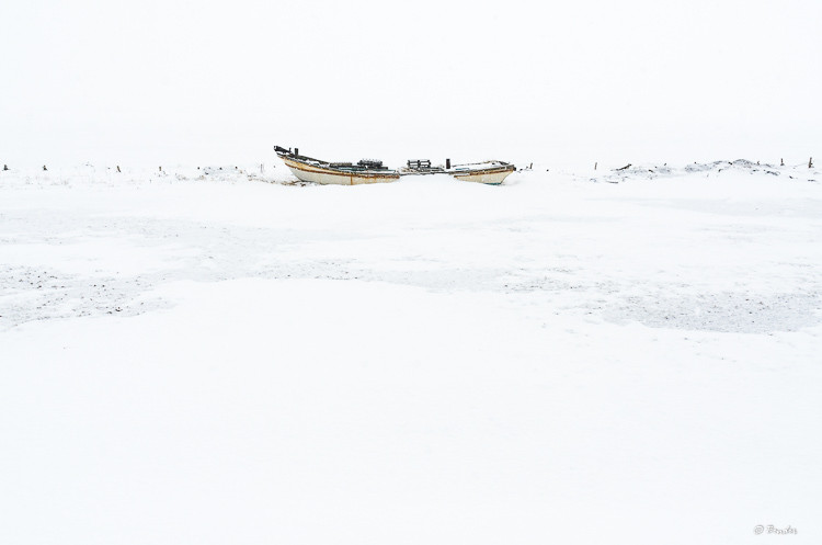 """""""Encased in Ice III"""" Study of a Japanese fishing boat in the dead of winter"""