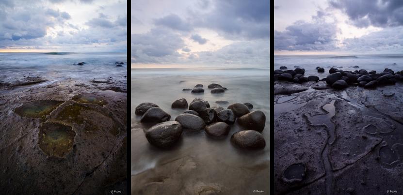 Triptic of images from Yah Leh Beach