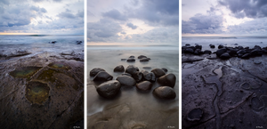 Triptic of images from Yah Leh Beach