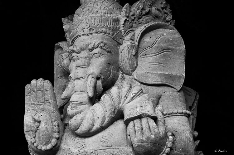 Ganesha in Bali stonework.