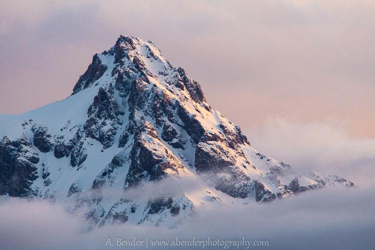 Grand Teton Peak in the morning