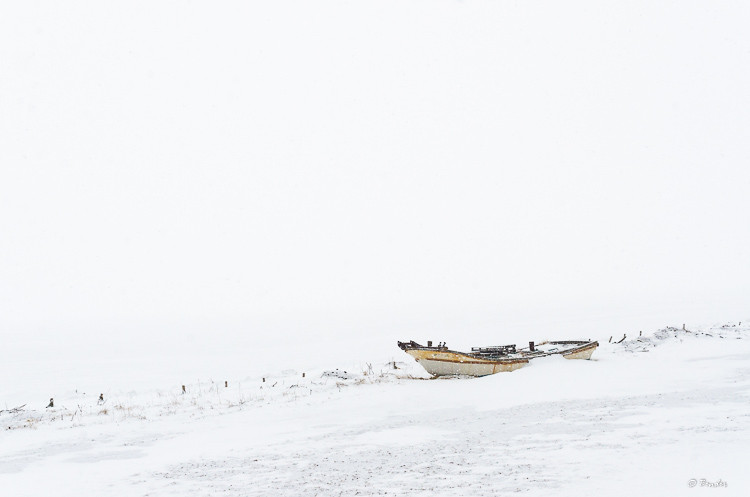 """""""Encased in Ice"""" Study of a Japanese fishing boat in the dead of winter"""