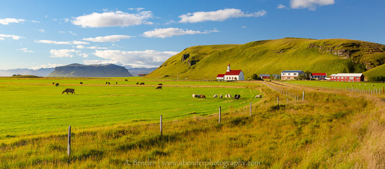 Quaint farm community just outside Vik