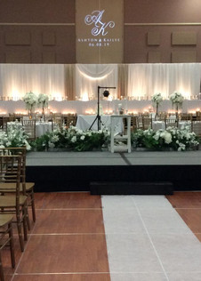 Stage + Wedding Party Table