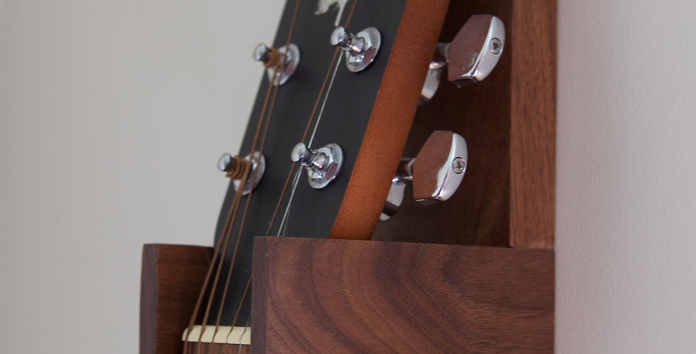 Solid Walnut Guitar Wall Hanger - (Design #1)