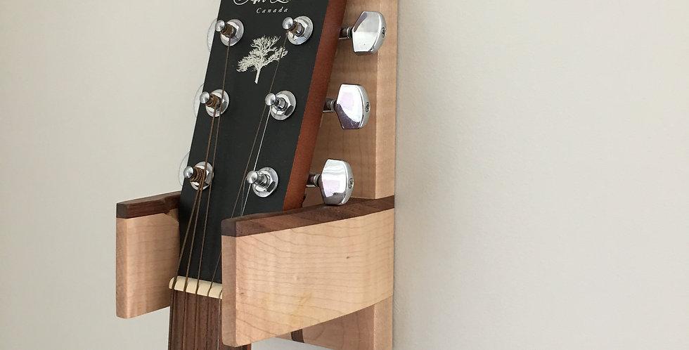 Curly Maple & Walnut Guitar Wall Hanger - (Model #2)