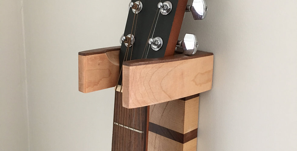 Maple & Walnut Guitar Wall Hanger - (Model #5)