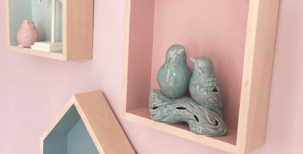 Petite House Shelves (Set of 3) - Reclaimed Wood