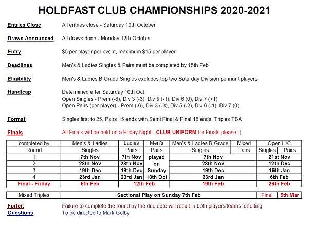 Club Championship Rules 2020 2021 image.