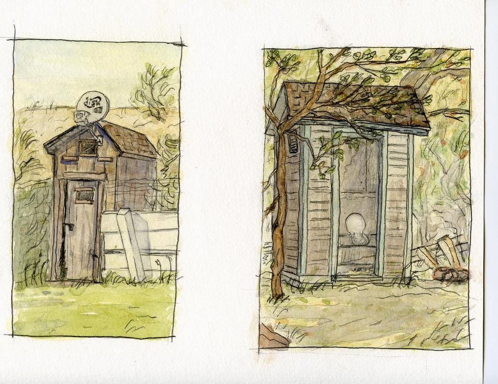 Outhouses Bannack Montana