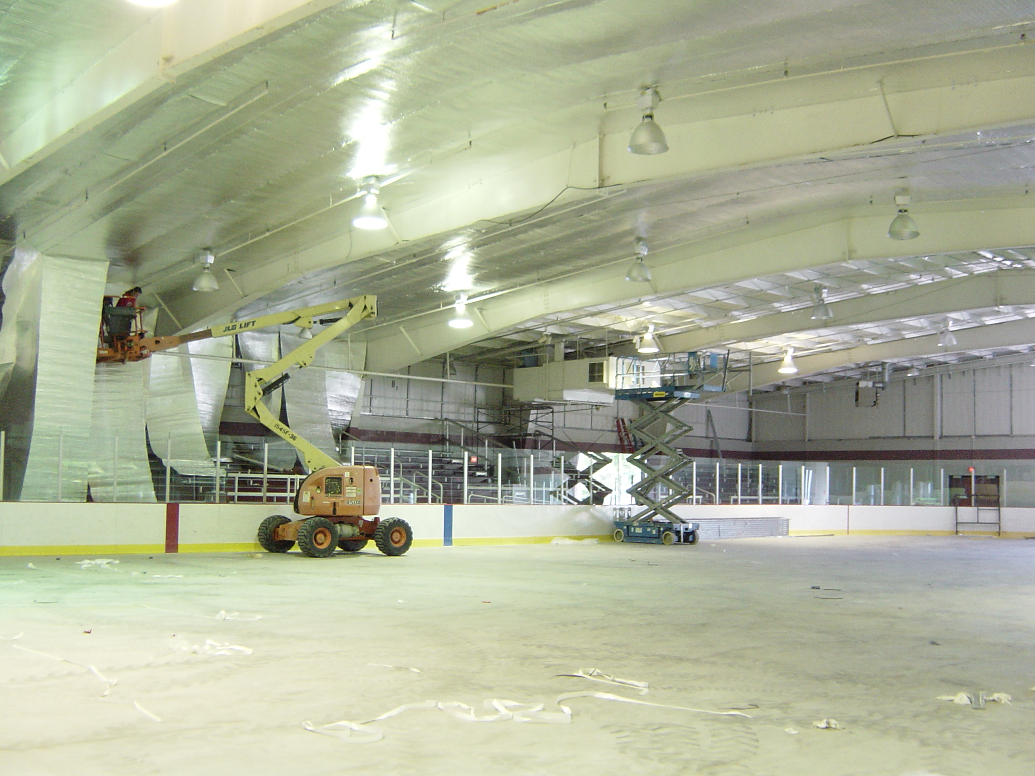 Installed Arena Shield at Birmingham Ice Arena