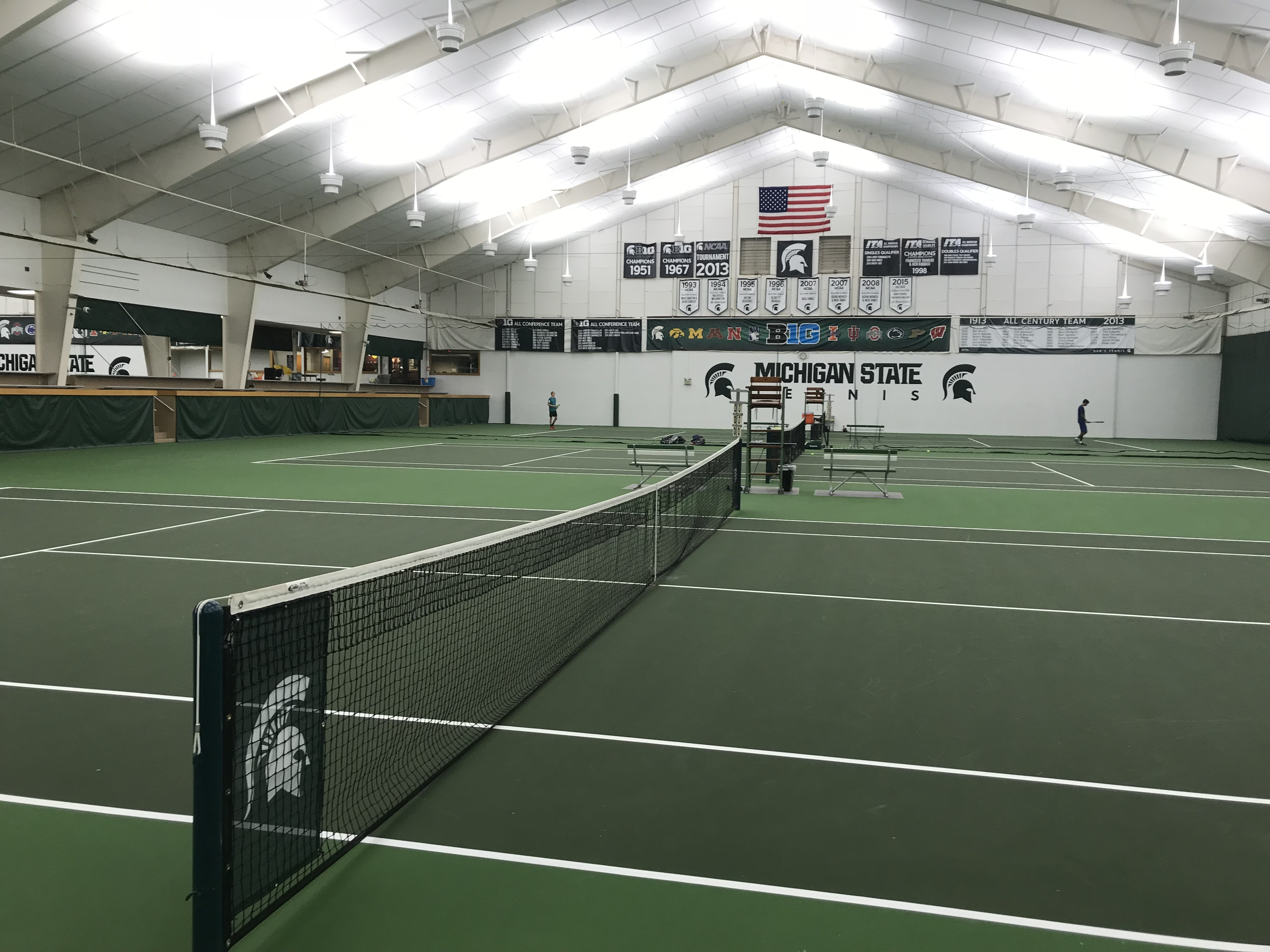 Michigan State University - LED Tennis Lights - 50% Energy Savings - Utility Rebate