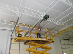 Fiberglass ROD Suspension System for Bar Joist Roofs