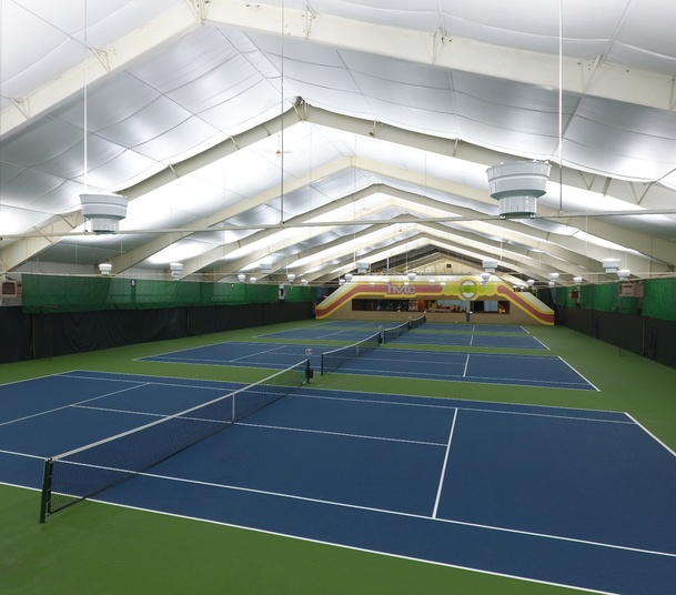 Huron Valley Indoor LED Tennis Lighting Unistrut - Rebate -3 Night Retrofit