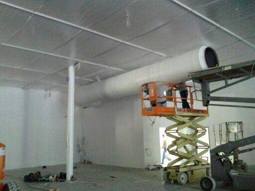 R-19 Rod Suspension Insulation System Suspended Down 10' From Roof