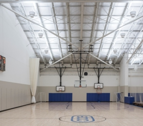 East Bank Indirect LED Gym Lighting 1 day retrofit