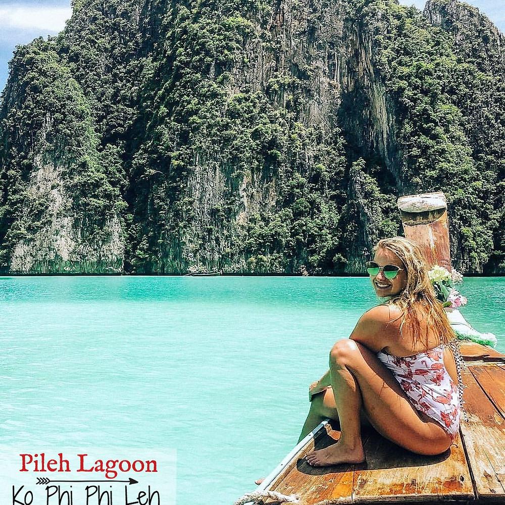 Pileh Lagoon, Phileh Bay, Ko Phi Phi Leh, Longtail Boat