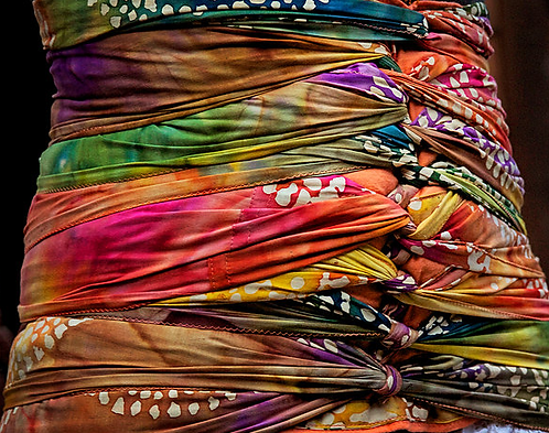 Wrap -Hand Batiked Fabric from India
