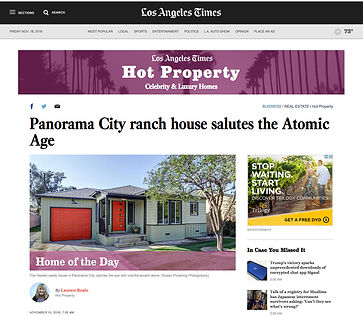 LA Times Hot Property Feature