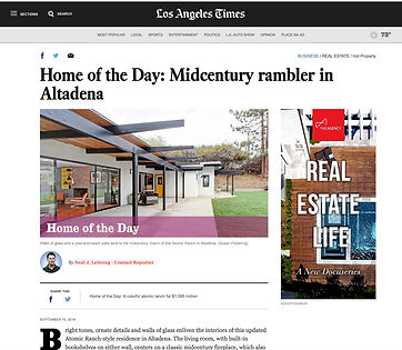 LA Times Home of the Day Feature