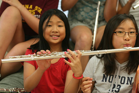 young flute students holding flute, flute students, flute lessons, san diego flute lessons